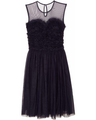 Платье миди с драпировкой сетчатое P.a.r.o.s.h.