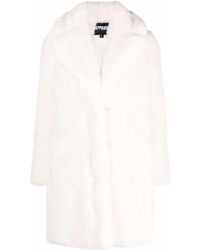 Biały długi płaszcz Apparis