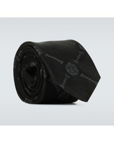 Шелковая резинка для волос - черная Berluti