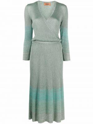 Зеленое платье с люрексом Missoni