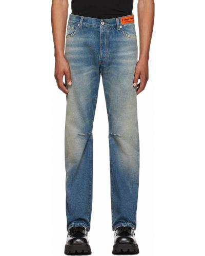 Джинсовые широкие джинсы - белые Heron Preston