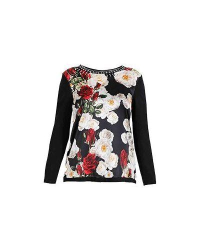 Черная блузка Elisa Fanti