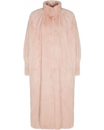 Норковая шуба - розовая Alena Akhmadullina