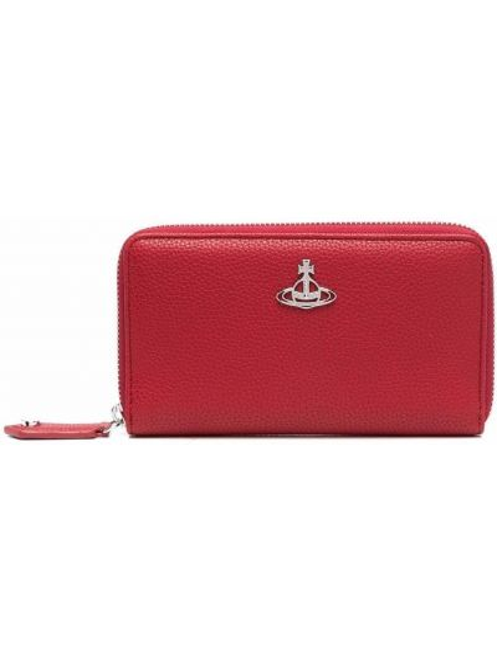 Кожаный кошелек - красный Vivienne Westwood