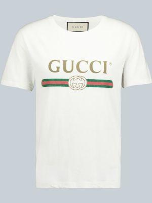 Лонгслив с принтом - белая Gucci