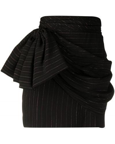 Черная юбка с оборками из вискозы Redemption