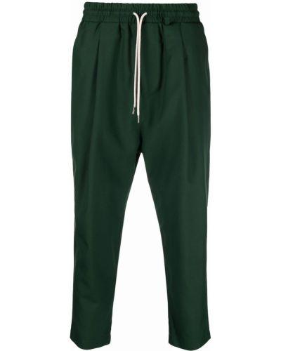 Zielone spodnie wełniane Drole De Monsieur