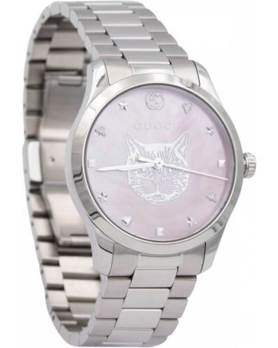 Серебряные часы Gucci