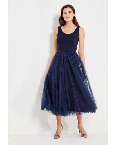 Вечернее платье осеннее синее Мария Браславская