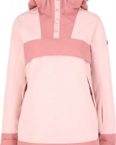 Прямая утепленная розовая куртка Roxy