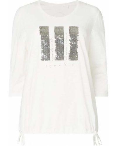 Bluzka z nadrukiem z printem - biała Samoon