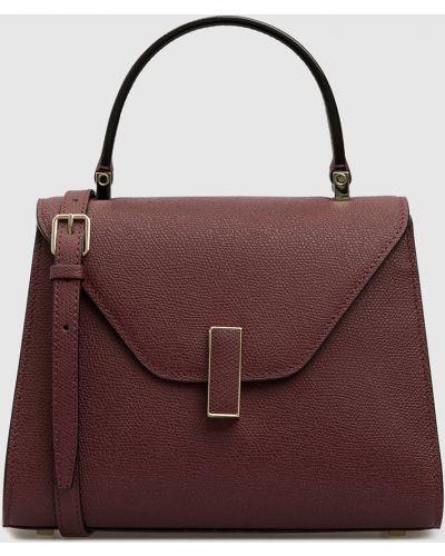 Кожаная красная кожаная сумка Valextra