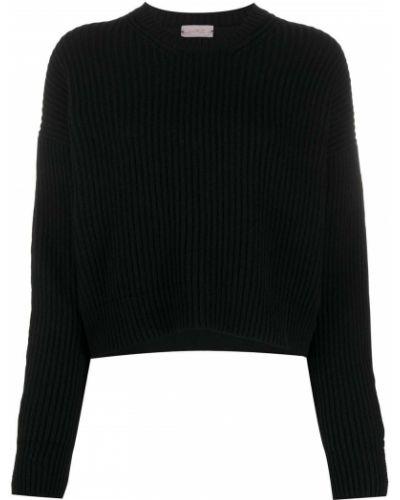 Свободные шерстяной черный джемпер с круглым вырезом Mrz