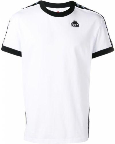 Футболка белая с логотипом Kappa