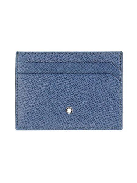 Niebieski portfel Montblanc
