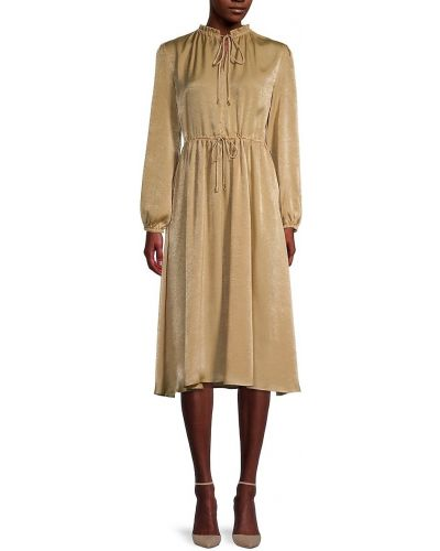 Платье миди с длинными рукавами с декольте на резинке T-tahari