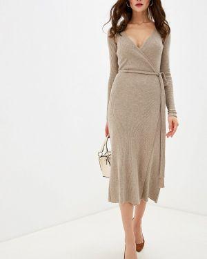 Платье с запахом осеннее Brusnika