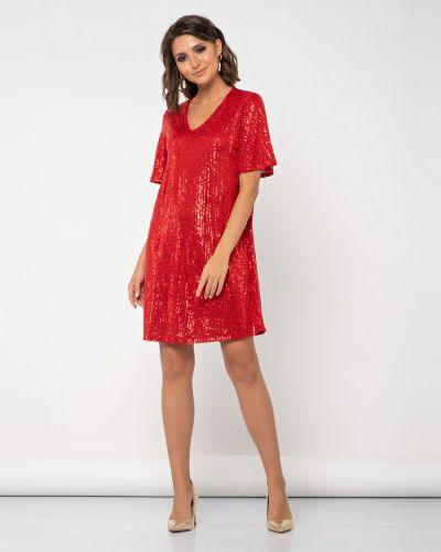 Прямое с рукавами платье с пайетками Jetty