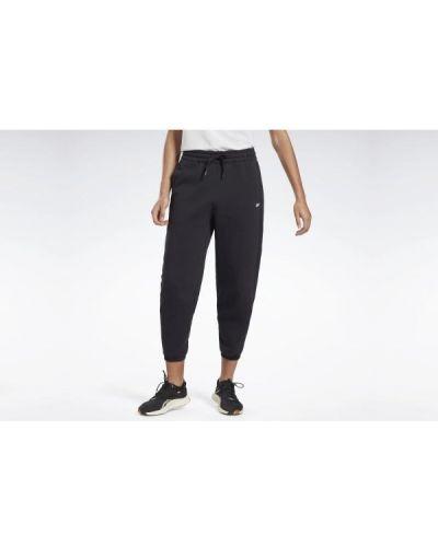 Spodnie dresowe bawełniane - czarne Reebok