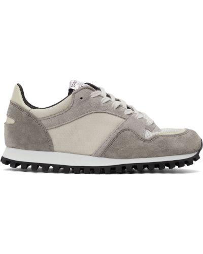 Białe sneakersy skorzane Spalwart