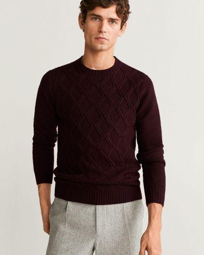 Sweter z wzorem z dzianiny Mango Man
