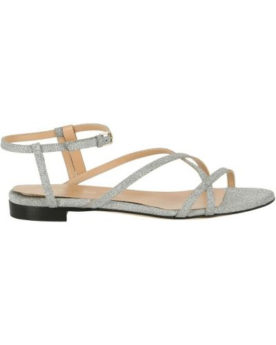 Szare brokatowe sandały Sergio Rossi