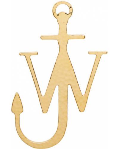 Брошь золотая металлическая Jw Anderson