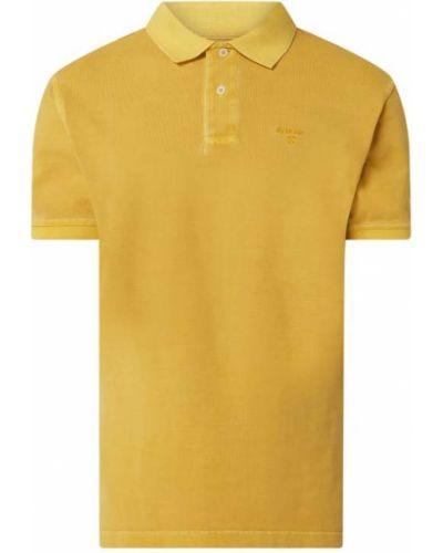 T-shirt bawełniana - żółta Barbour