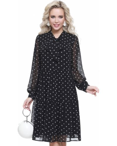 Шифоновое пышное платье с длинными рукавами Dstrend