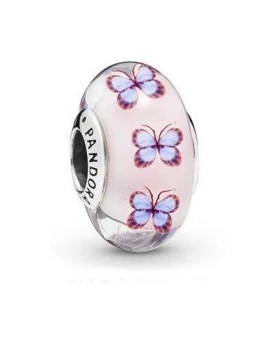 Бабочка с бабочками - серебряная Pandora