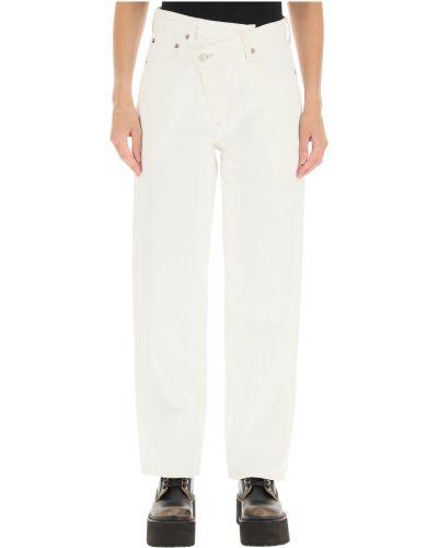 Białe mom jeans Agolde