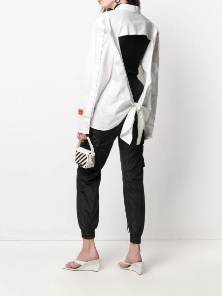 Хлопковая белая классическая рубашка с воротником Heron Preston