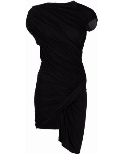 Черное платье без рукавов с вырезом Rick Owens Lilies