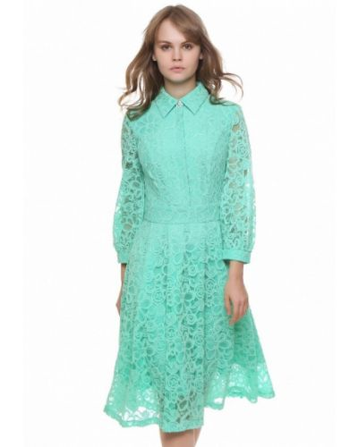 Платье миди бирюзовый осеннее Marichuell