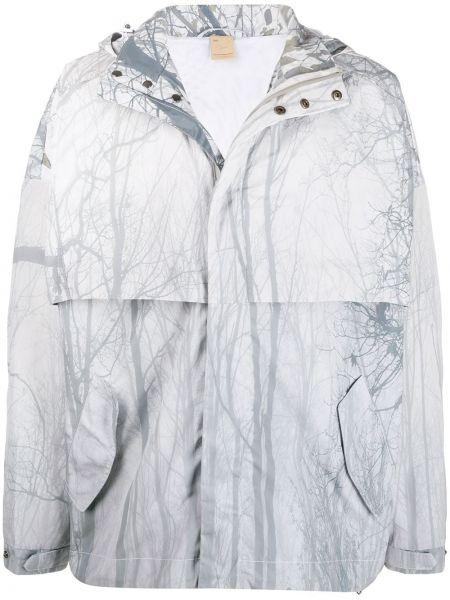 Biała kurtka z kapturem z długimi rękawami Astrid Andersen