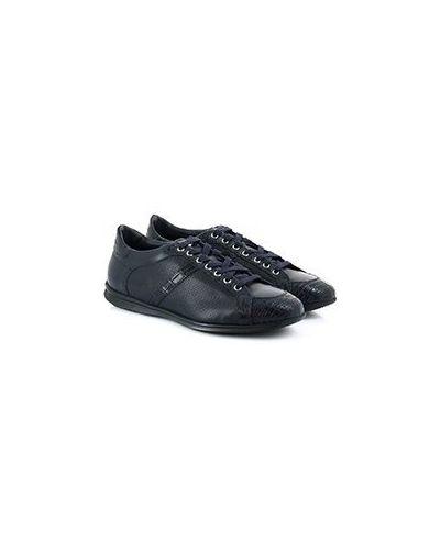 Синие кожаные кроссовки Pellettieri Di  Parma