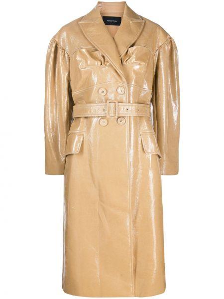 Płaszcz wełniany z paskiem z długimi rękawami Simone Rocha