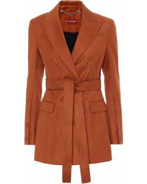 Хлопковый коричневый костюмный пиджак двубортный Altuzarra
