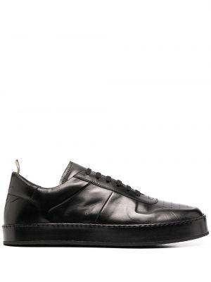 Кожаные черные кроссовки на шнуровке Officine Creative