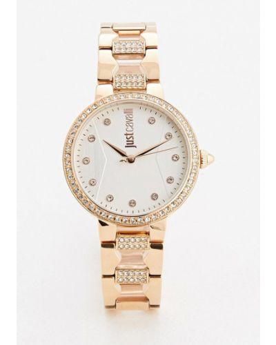 Кварцевые часы золотого цвета Just Cavalli