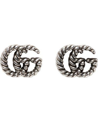 Kolczyki sztyfty srebrne Gucci