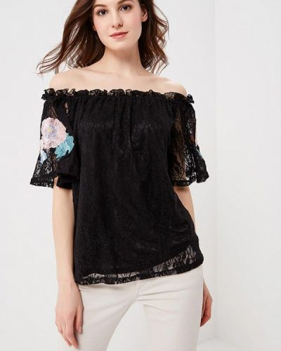 Черная кружевная блузка Glamorous