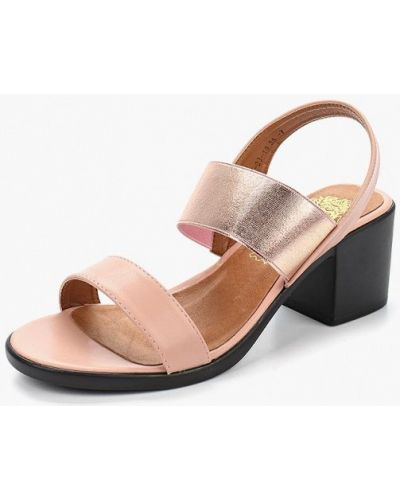 Розовые босоножки на каблуке Inario