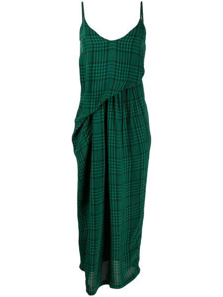 Sukienka midi zielona z dekoltem w serek Christian Wijnants