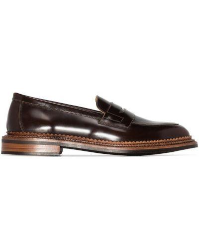 Кожаные лоферы - коричневые Grenson