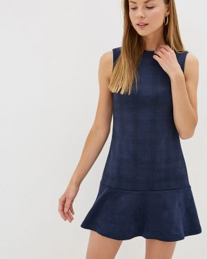 Платье прямое синее Pavesa