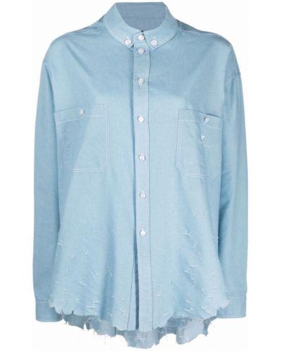 Синяя длинная рубашка Maison Bohemique