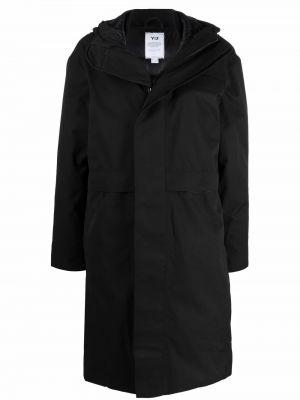 Полупальто с капюшоном - черное Y-3