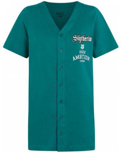 Koszula nocna bawełniana - zielona Undiz