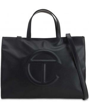Czarna torebka skórzana Telfar